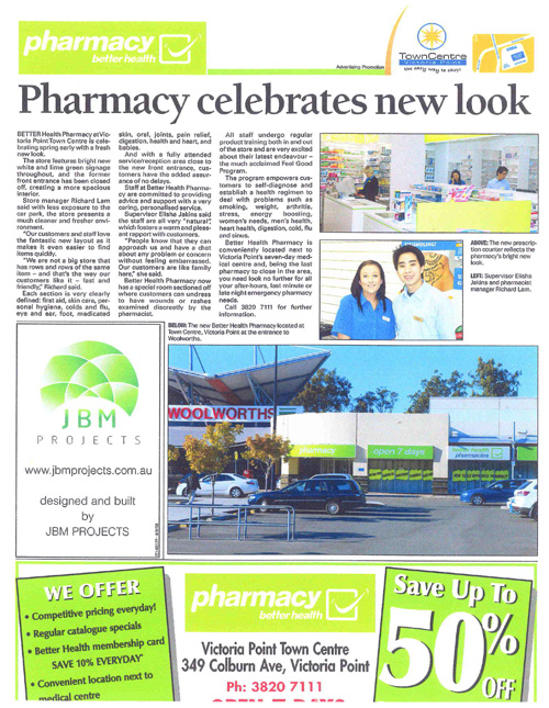Better Health Pharmacy article